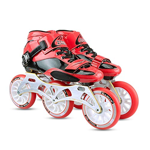 - Ailj Professional Inline Skates Women,Adult 3 110MM Wheels Skates Carbon Fiber Rollerblades for Men Red Yellow (Color : Red, Size : EU 45)