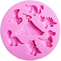 Dinosaurs Silicone Fondant Mold Chocolate Mold for Sugarcraft - DIY Baking Utensils - Cake Decoration,Candy Mold,Cupcake Topper,Polymer Clay,Crafting Projects,Soap Mold