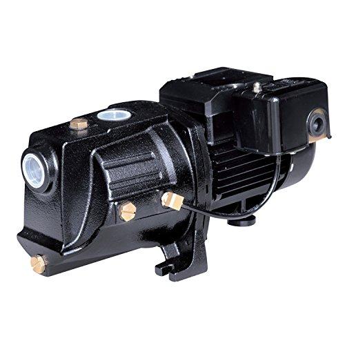 Acquaer SJC050 1/2 HP Dual-Voltage Cast Iron Shallow Well Jet Pump, Black