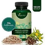 RHODIOLA ROSEA Vegavero® | 3% Salidroside | Con Aronia, Vitamina B1 e B6 | 120 capsule | Vegan