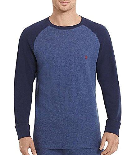 Polo Ralph Lauren Waffle Knit T-Shirt, M, Rustic Navy (Ralph Lauren Waffle)