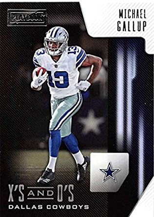 1393c6ed483 2018 Panini Playbook Xs and Os #30 Michael Gallup Cowboys NFL Football Card  NM-