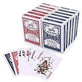 LotFancy Playing Cards, Poker Size Standard Index, 12 Decks of Cards, for Blackjack, Euchre