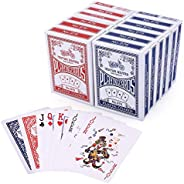 LotFancy Playing Cards, Poker Size Standard Index, 12 Decks of Cards (6 Blue and 6 Red), for Blackjack, Euchre