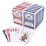 LotFancy Playing Cards, Poker Size Standard Index, 12 Decks of Cards, for Blackjack, Euchre