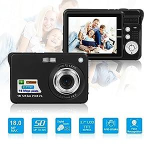 HD Mini Digital Camera with 2.7 Inch TFT LCD Display, Digital Video Camera Black-- Sports,Travel,Camping,Birthday&Christmas Gift