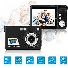 HD mini cámara digital con visualización LCD TFT de 2.7inch , cámara de vídeo digital videocámara para deportes, Viajes, Camping, cumpleaños & regalo de Navidad