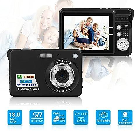 HD Mini Digital Camera with 2.7 Inch TFT LCD Display, Digital Video Camera Black-- Sports,Travel,Camping,Birthday&Christmas - 32 Class Lcd
