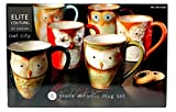 Owl City - 6pc Ceramic Owl Mug Set