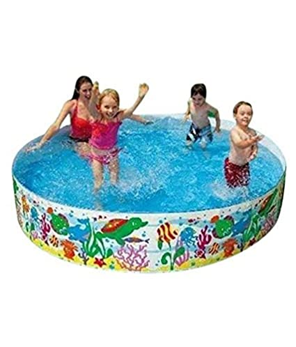 Maruti Enterprise Multicolour Plastic Swimming Pool 8 Ft