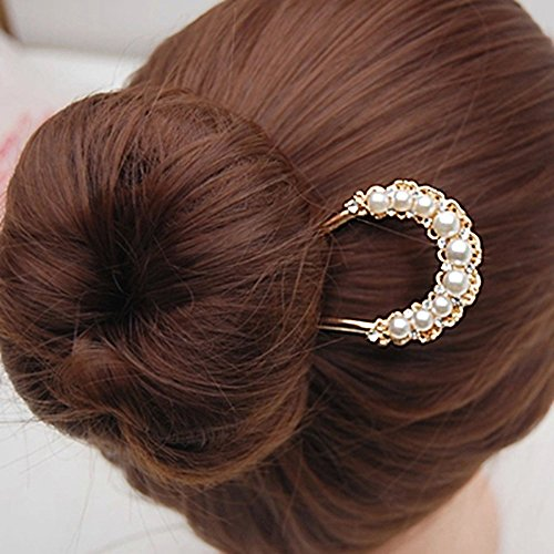 EYX Formula Fashion Crystal Rhinestone Bridal U-shaped Hairpins hair comb hair fork Beauty Tools, Rhinestone pearl Flower heart women hair fork hairclips pins for hair (1920 Hairstyles For Long Hair)