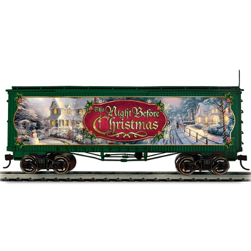 (Thomas Kinkade Christmas Train Box Car: The Night Before Christmas by Hawthorne Village)