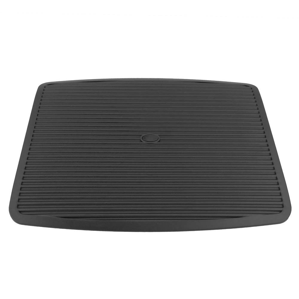 PrimeMatik Poggiapiedi con Piattaforma Regolabile in plastica Nera 450 x 350 mm