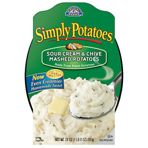 SIMPLY POTATOES MASHED SOUR CREAM & CHIVES POTATOES FROZEN FOOD 24 OZ PACK OF 2