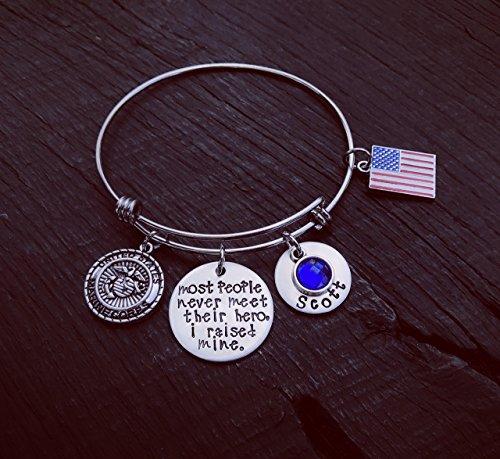 (Most People Never Meet Their Hero I Raised Mine Bracelet | Military Mom | Air Force Mom | Army Mom | Coast Guard Mom | Marine Mom | Navy Mom)