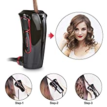 iGutech Automatic Hair Curler with Tourmaline Ceramic Heater (Black)