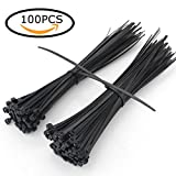 Heavy Duty Cable Ties 12 Inch 100 Pack AlwaysDecor Multi-purpose Nylon Zip Ties Strong Ties Perfect for Outdoor&Indoor Use(Black)