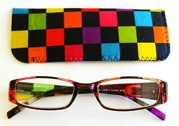 ef9244bd74f47 Amazon.com   (2 PACK + BONUS) Foster Grant   Magnivision (+1.25) CONFETTI  Reading Glasses w  Case + FREE Microfiber Cleaning Cloth   Beauty