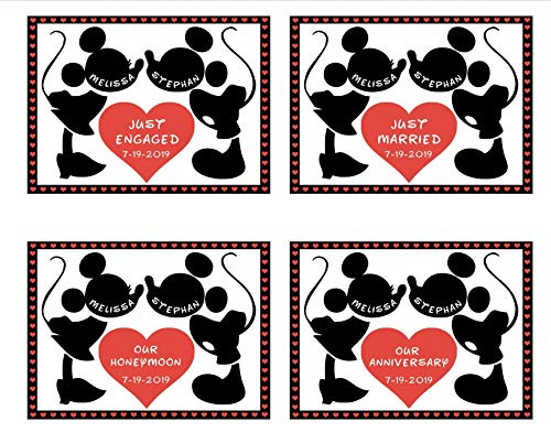 LARGE Personalized Disney Anniversary Door Magnet || Just Married Magnet || Just Engaged Disney Cruise Magnet || Our Honeymoon Stateroom Door Magnet || FREE Shipping -