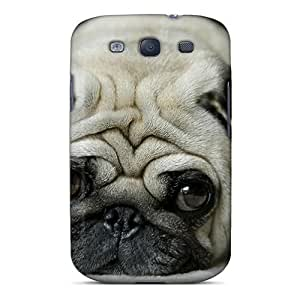 New Fashionable LauraGroff-Y Cover Case Specially Made For Galaxy S3(pug)