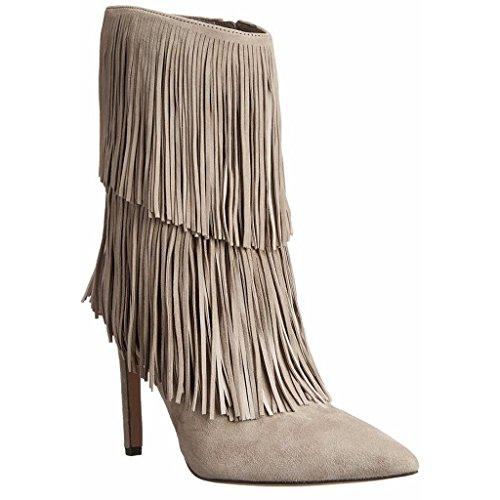 tallone impermeabili Lady Stivali banchetto brown Autunno caviglia a fatti PU Booties Scarpe Inverno 36 della artificiale 34 Signora 0702FD scarpe da mano GRAY 5dtxnwHqq