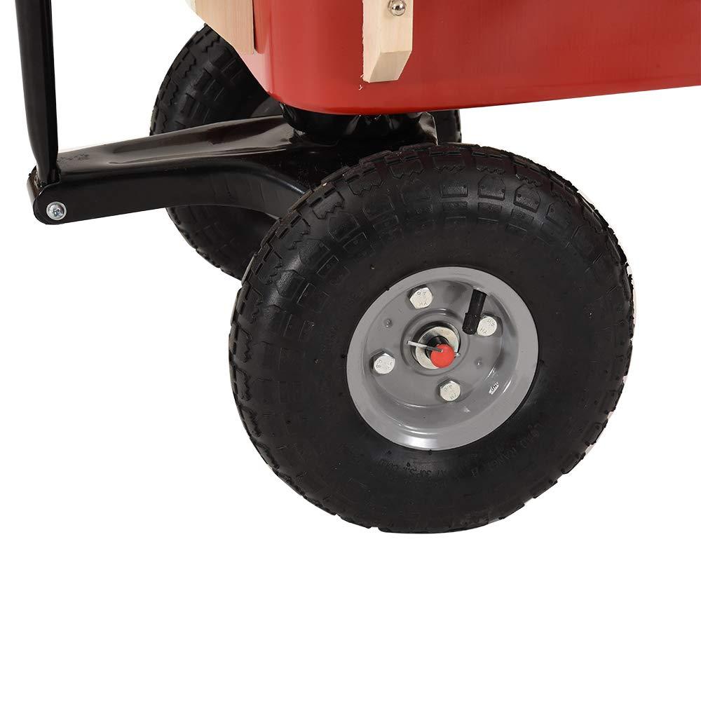 Jardin Taille: 85 * 40 * 120cm Entrep/ôt et Ferme etc Rouge Anaelle Panana Chariot de Transport Charrette /à Bras sur Maison Poids: 26kg Support Maximale de 300kg