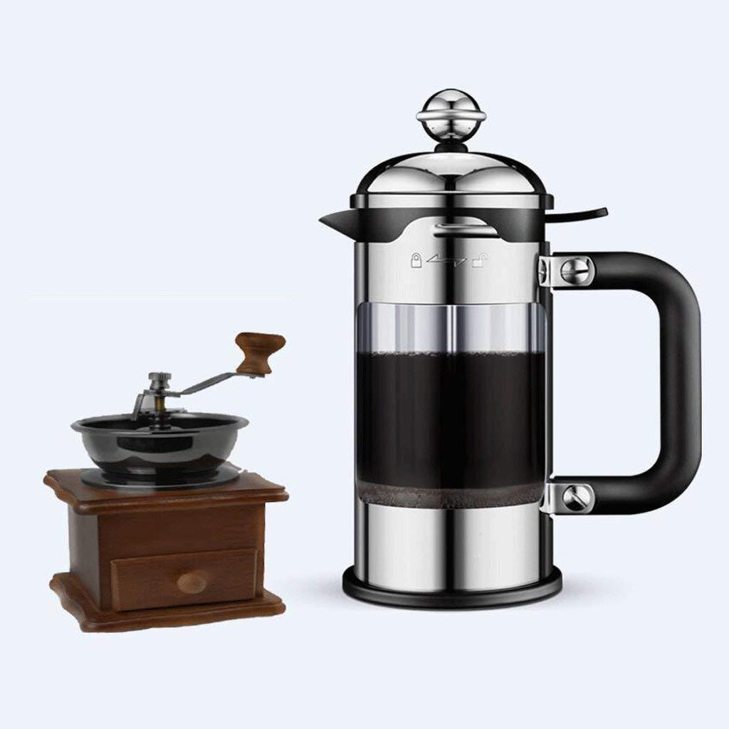 Acquisto Cxmm Caffettiera in Acciaio Inox Filtro a Pressione Manuale Caffettiera Portatile da pentola (caffettiera + Moulin) (capacità: 350 ml). Prezzi offerta