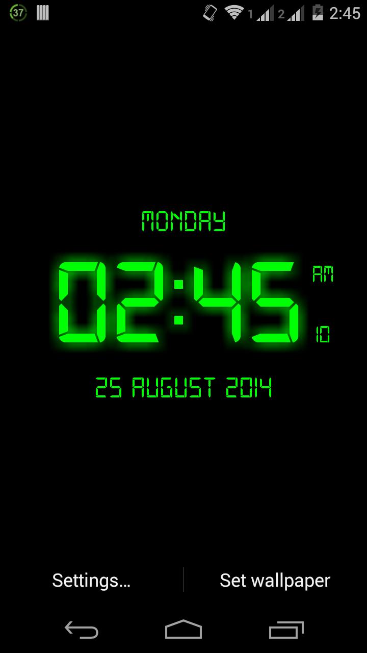 Amazon Com Led Digital Clock Live Wallpaper Appstore For