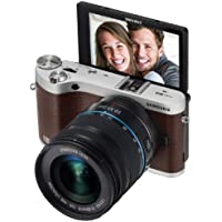 Samsung NX300M 20.3MP CMOS Smart WiFi & NFC Mirrorless Digital Camera with 18-55mm Lens and 3.3 AMOLED Touch Screen (Brown)