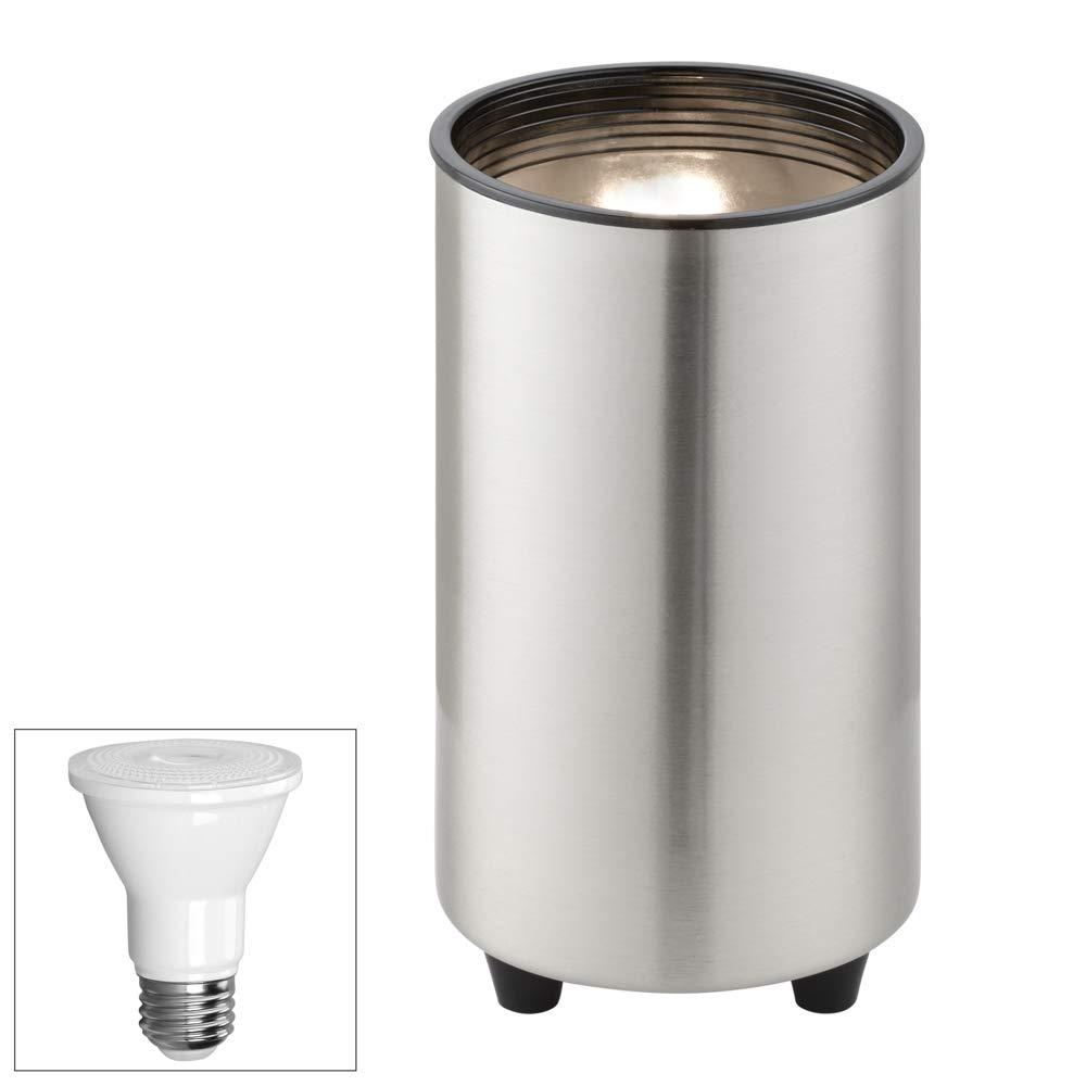 Brushed Steel 6 1/2''H PAR20 LED Mini Can Accent Spot Light