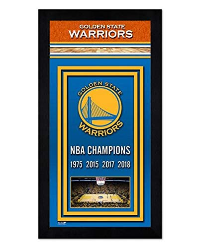 Golden State Warriors Miniframe 2018 NBA Finals Championship Banner - 6.75 x 13 (Nba Championship Banner)
