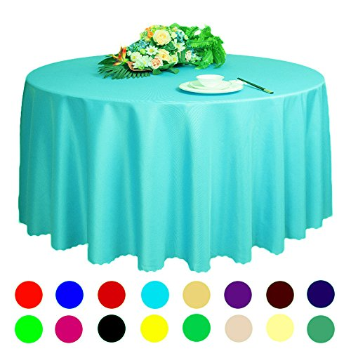 Adasmile Solid Polyester Wedding Restaurant Party Round Tablecloth Tablecovers for Event & Party Supplies (63