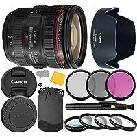 EF 24-70mm f/4.0L IS USM Lens + 3 Piece Filter Set + 4 Piece Close Up Macro Filters + Lens Cleaning Pen + Pro Accessory Bundle - 24-70mm IS USM (L): International Version (No Warranty)