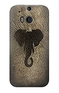 E2516 Elephant Skin Graphic Printed Funda Carcasa Case para HTC ONE M8