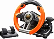 PC Racing Wheel, PXN V3II 180 Degree Universal Usb Car Sim Race Steering Wheel with Pedals for PS3, PS4, Xbox One,Nintendo S