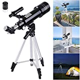 400x70mm Refractor Astronomical Telescope Eyepieces w/Tripod for Kids Beginners