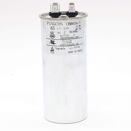 DollaTek 35uF CBB65 Motor del Condensador Que se Ejecuta para el acondicionador de Aire 450VAC SH 40/70/21 50 / 60Hz: Amazon.es: Electrónica