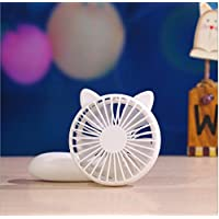 Kidsdream Mini Handheld Fan Multi Purpose Mini Cooling Fan Rechargeable Fan for Office Travel Shopping Study Home Camping (Fox, White)