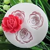 3D Rose Flowers Fondant Cake Cookie Chocolate Soap Mold Cutter Modelling Tools by Yingying Molds
