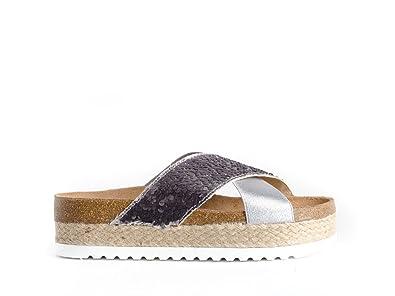 Colour Feet Sandales Pour Femme - Argenté - Argent, 37 EU
