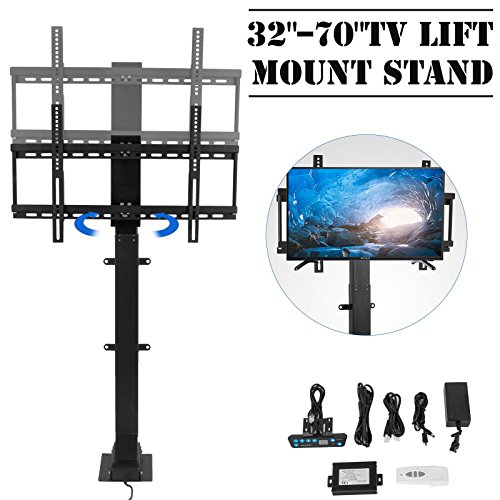 Happybuy Pro Swivel Motorized TV Lift 32''-70'' TV Lift Mechanism 1000mm Lift Mount Auto Lifting Adjustable Height with Remote Controller for Plasma LCD LED TV and Monitors (SHC-340) by Happybuy