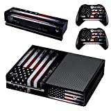 xbox one controller decal cover - UUShop Protective Vinyl Skin Decal Cover for Microsoft Xbox One Console wrap sticker skins with two Free wireless controller decals American Falg