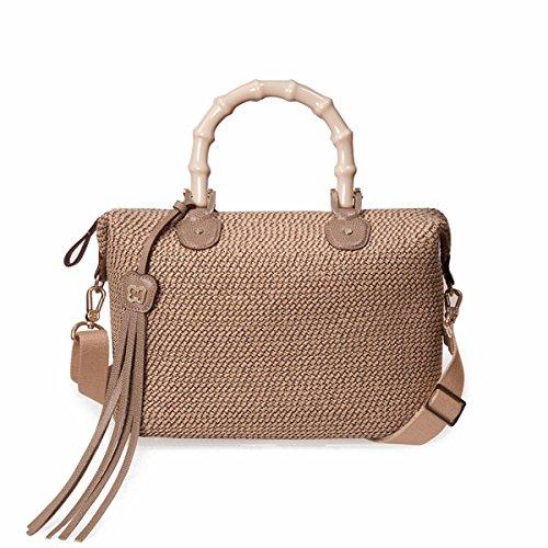 Eric Javits Luxury Fashion Designer Women's Handbag - Squishee Capri - Bark by Eric Javits