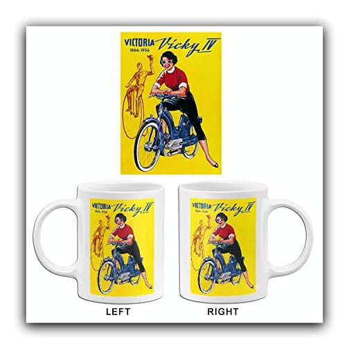 1956 Victoria Vicky IV - Moped - Promotional Advertising Mug  