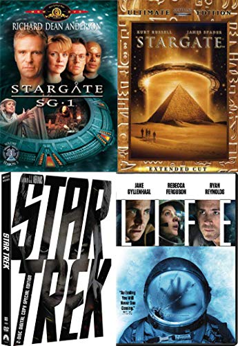 Files Explore Space Collection Life Space Station + Star Trek Special Edition Movie (2009) & Stargate Ultimate Edition SG1 DVD Bundle