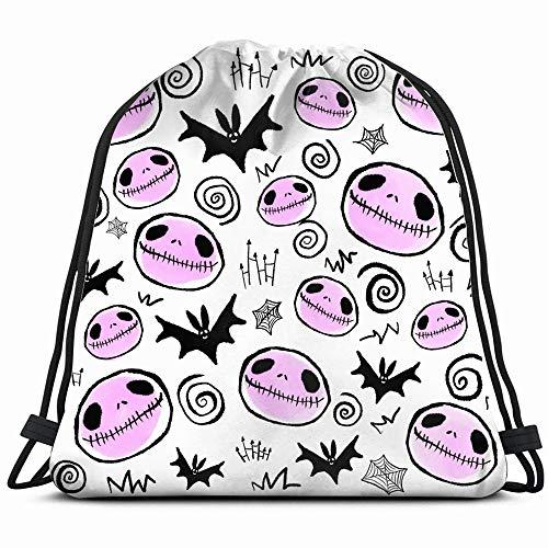 Halloween Skulls Bats Artwork Holidays Drawstring Backpack Gym Dance Bags For Girls Kids Bag Shoulder Travel Bags Birthday Gift For Daughter Children Women -