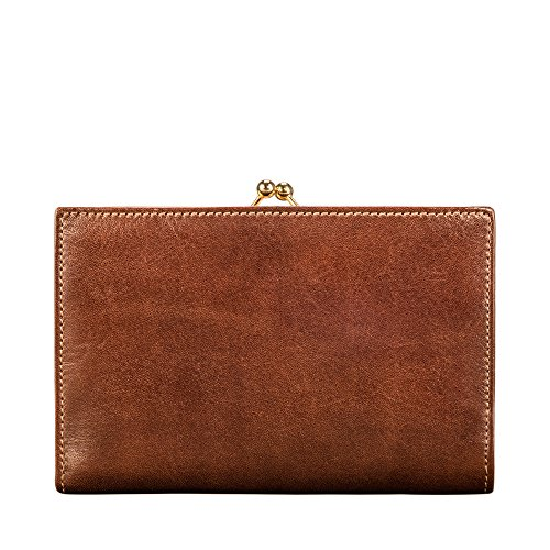 The Grain Handcrafted Italian Luxury Women Leather Classic Purse Large Marcialla Full for Tan Scott® Maxwell Coin 7wTqXf