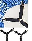 Best Bed Sheet Suspenders - Adjustable Criss-Cross Bed Sheet Straps Suspenders / Bed Review