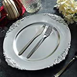 Tiger Chef Silver Charger Plates - Antique Plate