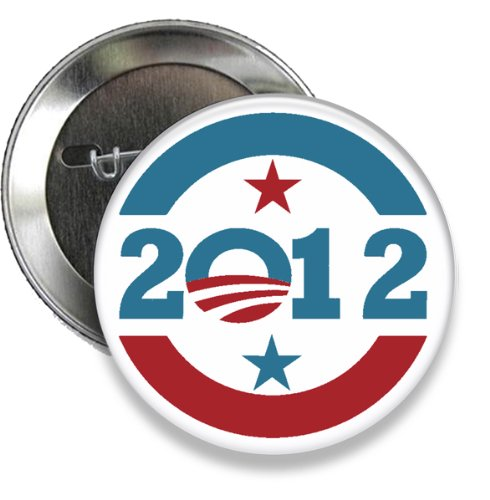 Obama Campaign Buttons - Change 2012 Obama Campaign Button (Set of 5) 3